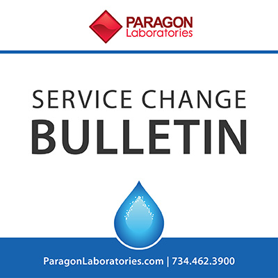 Service Change Bulletin - Waters & Environment